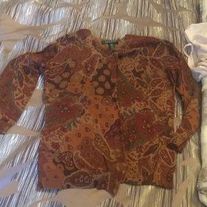 Paisley silk/cotton Ralph Lauren Cardigan
